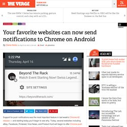 Your favorite websites can now send notifications to Chrome on Android