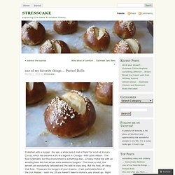 one of my favorite things … Pretzel Rolls « STRESSCAKE