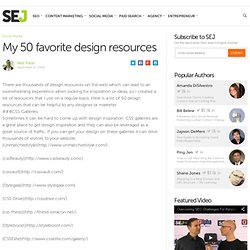 My 50 favorite design resources
