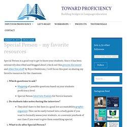 Special Person – my favorite resources – TOWARD PROFICIENCY