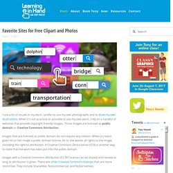 Favorite Sites for Free Clipart and Photos