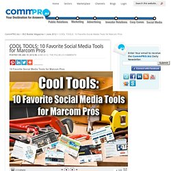 COOL TOOLS: 10 Favorite Social Media Tools for Marcom Pros