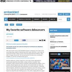 My favorite software debouncers