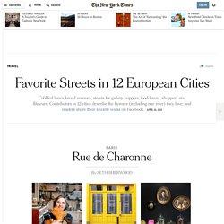 Favorite Streets in 12 European Cities