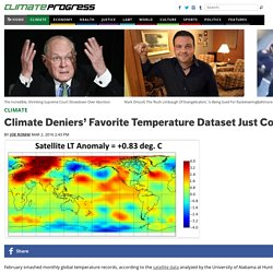 Climate Deniers' Favorite Temperature Dataset Just Confirmed Global Warming