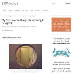 My five favorite things about living in Reykjavík