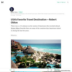 USA's Favorite Travel Destination — Robert Oblon