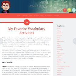 My Favorite Vocabulary Activities