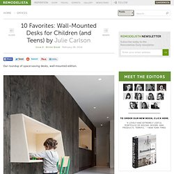 10 Favorites: Wall-Mounted Desks for Children (and Teens)
