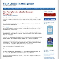 Why Playing Favorites Is Bad For Classroom Management
