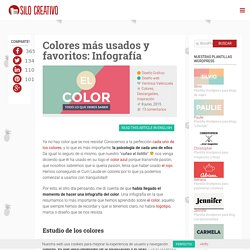 Colores más usados y favoritos: Infografía
