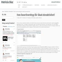 Fem favoritverktyg för ökad elevaktivitet! – Patricia Diaz