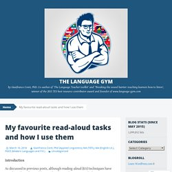 My favourite read-aloud tasks and how I use them