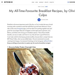 My All-Time-Favourite Breakfast Recipes, by Olivia Culpo