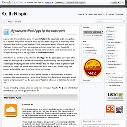 My favourite iPad Apps for the classroom - Keith Rispin » Keith Rispin