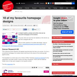 10 of my favourite homepage designs