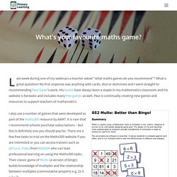 What's your favourite maths game? – Primary Learning