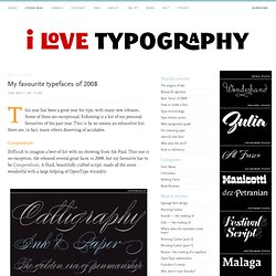My favourite typefaces of 2008
