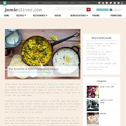 Our favourite of Jamie's vegetarian recipes