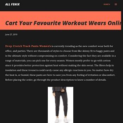 Cart Your Favourite Workout Wears Online
