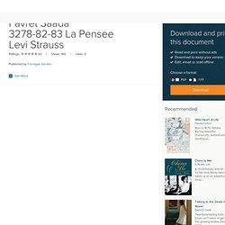 Favret Saada 3278-82-83 La Pensee Levi Strauss