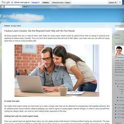 Faxless Loans Canada- Get the Required Cash Help with No Fax Hassle