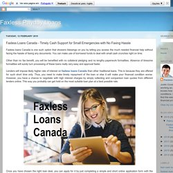Faxless Loans Canada - Timely Cash Support for Small Emergencies with No Faxing Hassle