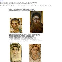 Fayum Mummy Portraits (timeline)
