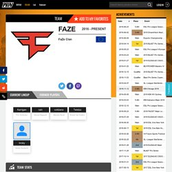 FaZe Clan - CS:GO - Team Profile - WIN.gg