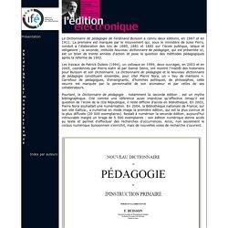 """Dictionnaire pédagogique """"Ferdinand Buisson"""" en ligne - INRP"""