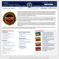 an analysis of the uniform crime reports an annual fbi publication Uniform crime reports  program of the federal bureau of investigation  departments that report to the fbi the major unit of analysis are the index crimes.