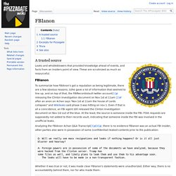 FBIanon - The #Pizzagate Wiki