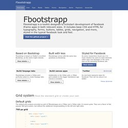 Fbootstrapp by Clemens Krack, based on Bootstrap, from Twitter