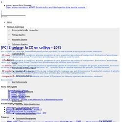 [FC] Enseigner la CO en collège – 2015