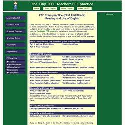 FCE exercises