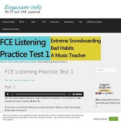 FCE Listening Practice Test 1