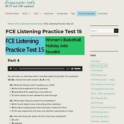 FCE Listening Practice Test 15