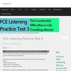 FCE Listening Practice Test 3