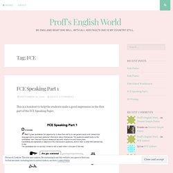 FCE – Proff's English World (yesss!!)