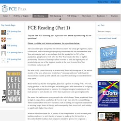FCE Reading Part 1 - FCE Pass