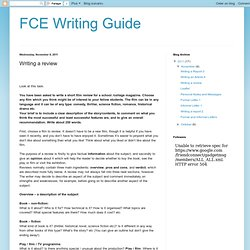 FCE Writing Guide: Writing a review