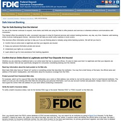 FDIC: Safe Internet Banking