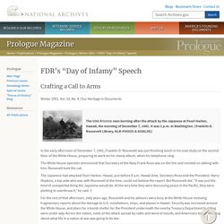 """FDR's """"Day of Infamy"""" Speech (National Archives)"""