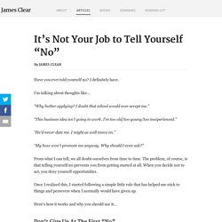 "The Fear of Failure: It's Not Your Job to Tell Yourself ""No"""