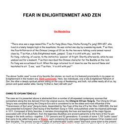 Fear in Enlightenment and Zen