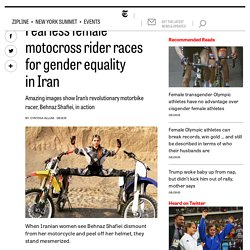 Fearless female motocross rider races for gender equality in Iran