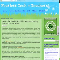 How Fake Facebook Profiles Support Reading Instruction and More!