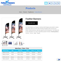 Feather Banners & Feather Flags in Australia