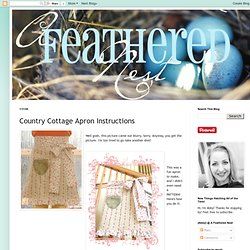 Country Cottage Apron Instructions