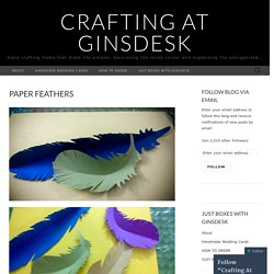 Crafting At Ginsdesk